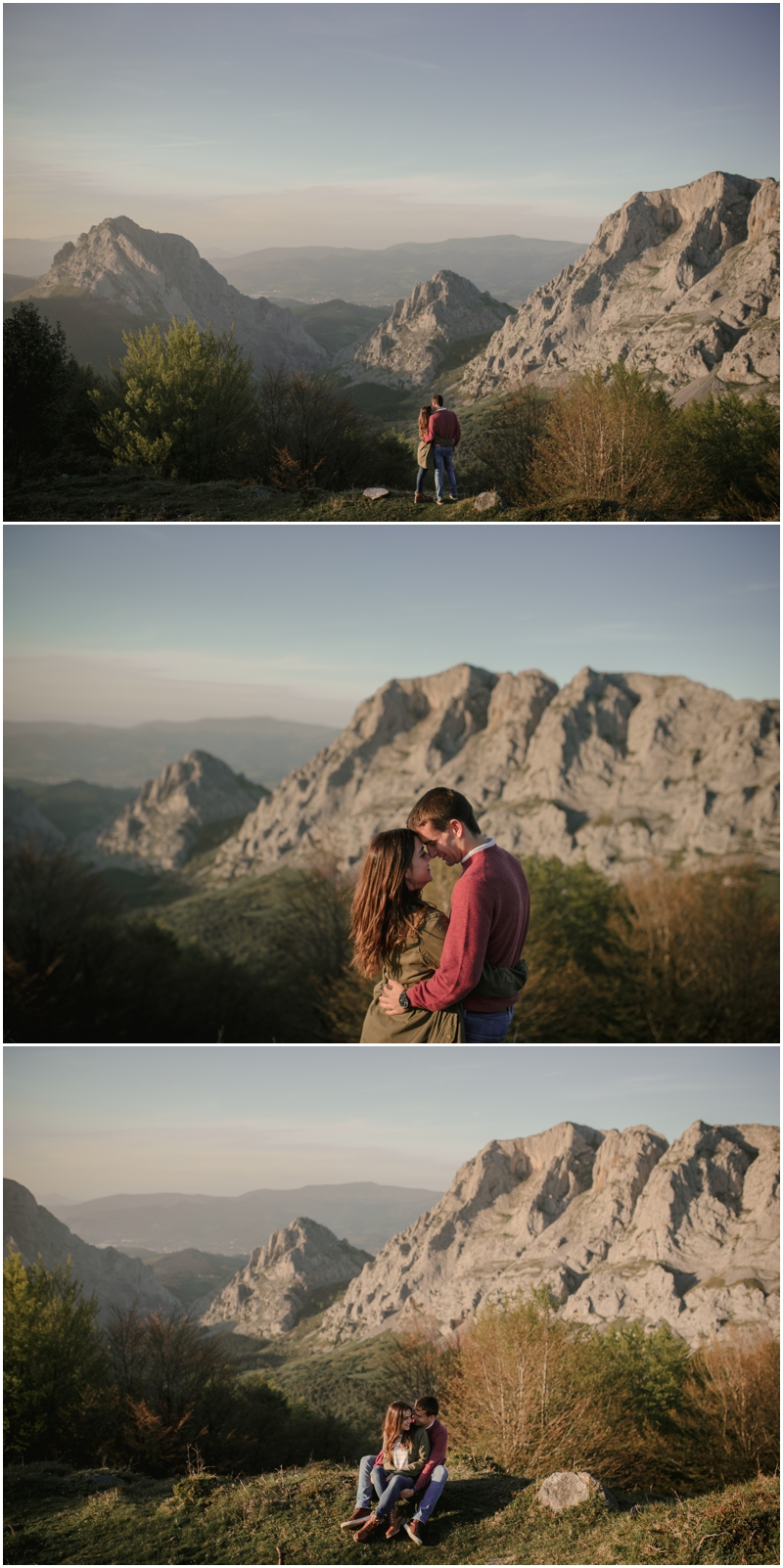 Sesión de pareja en la naturaleza en Vitoria-Gasteiz.