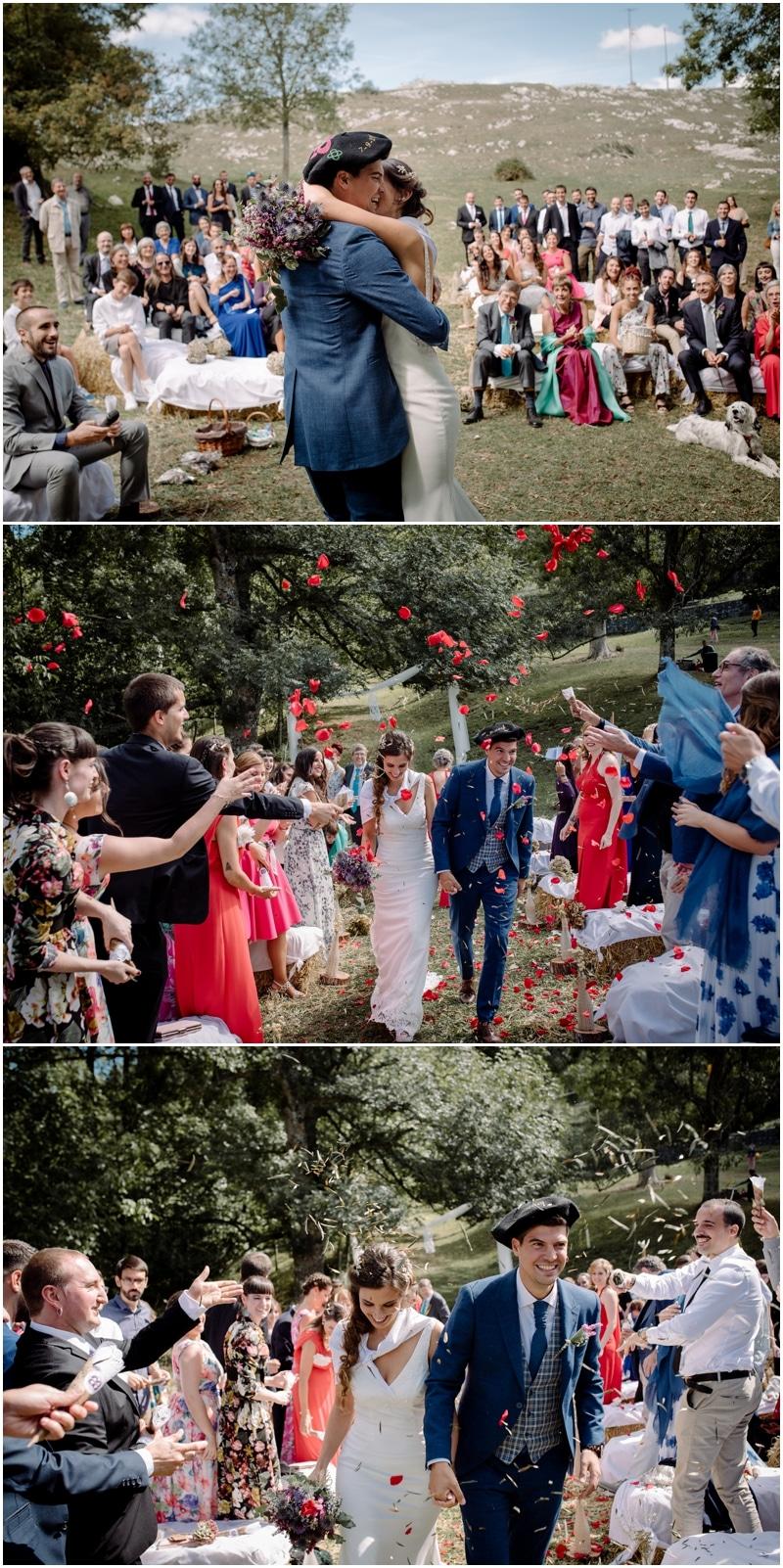 Fotógrafo de bodas al aire libre en Vitoria.